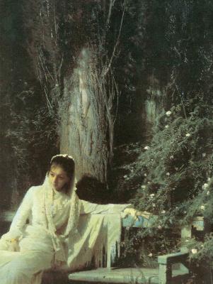 Ivan Nikolayevich Kramskoy. Moonlit night. Fragment