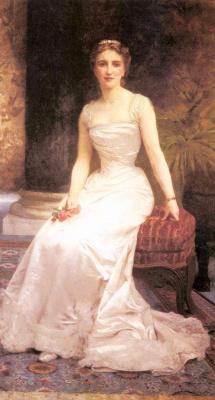 William-Adolphe Bouguereau. Portrait of Madame Olri Roederer