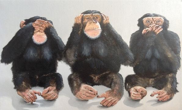 Evgeny Vladimirovich Terentyev. Three monkeys