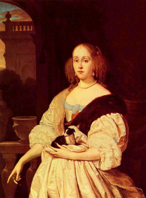 Франц ван Мирис Старший. Портрет юной дамы