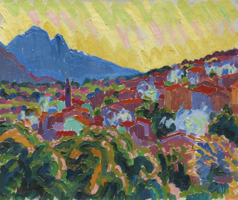 Auguste Erben. View of the village of Corsica