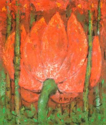 Мухаммед Арифин. Красные цветы