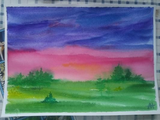 Alina Nesterova. A riot of colors