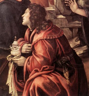 Filippino Lippi. The adoration of the Magi