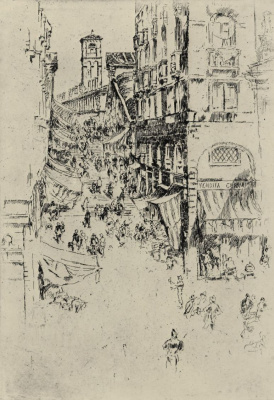 James Abbot McNeill Whistler. Venice, Rialto bridge