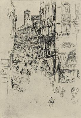 James Abbot McNeill Whistler. Venice, Rialto bridge