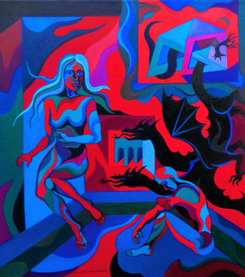 Nina Tokhtaman Valetova. Astha Carrying The Light Into The Abyss