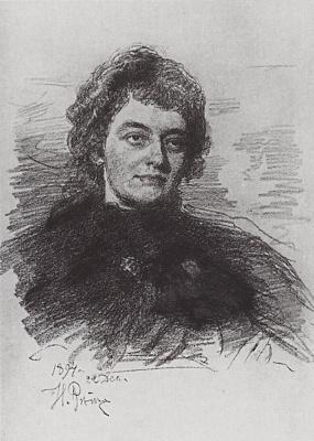 Ilya Efimovich Repin. Portrait Of Zinaida Nikolayevna Gippius