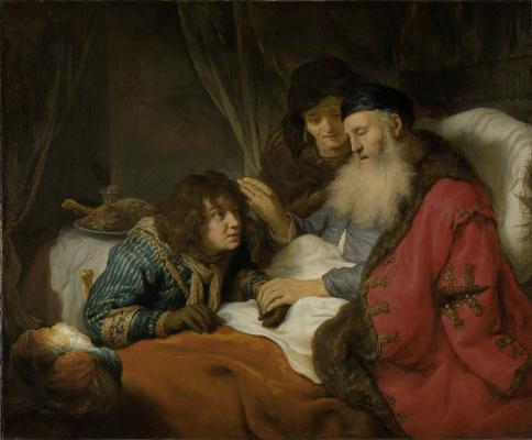 Gowert Flink. Isaac blesses Jacob