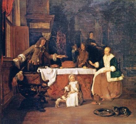 Gabrielle Metsu. Family Breakfast