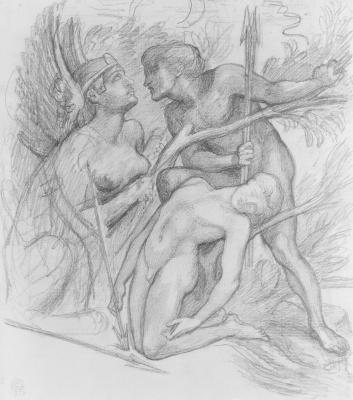 Astarte Of Syriaca. Sphinx. Sketch