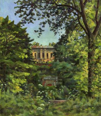 Andrei Ivanovich Borisov. Evening in the old manor house
