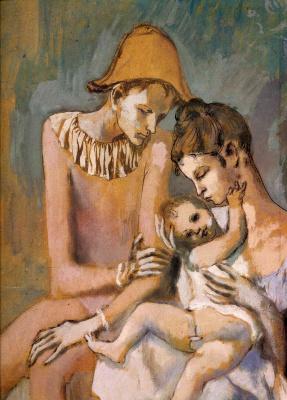 Пабло Пикассо. Семья акробатов с обезьяной (фрагмент)