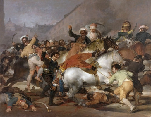Francisco Goya. The uprising of 2 may 1808 in Madrid