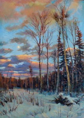 February. Moonrise