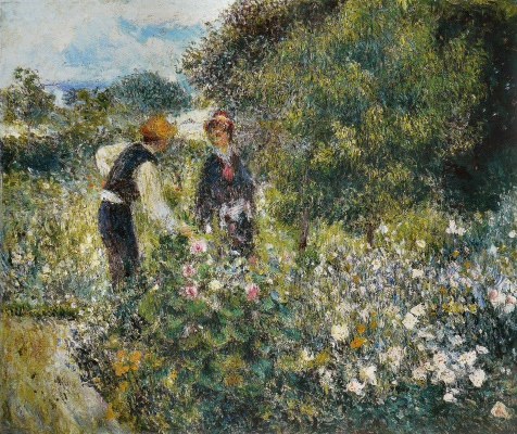 Pierre-Auguste Renoir. Picking flowers