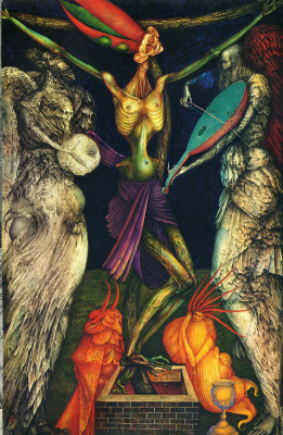 Ernst Fuchs. The crucifixion