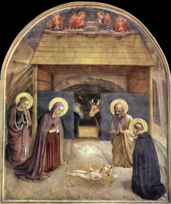 Fra Beato Angelico. Nativity. Fresco of the Monastery of San Marco, Florence