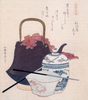 Katsushika Hokusai. Dishes