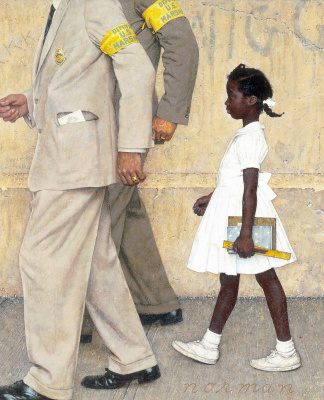 Norman Rockwell. The problem with which we all live. Fragment
