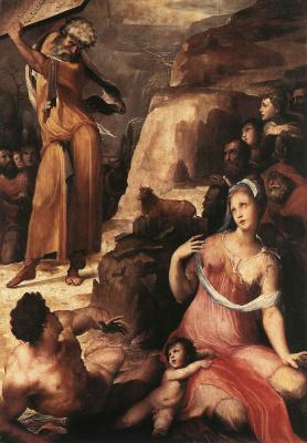 Доменико Беккафуми. Моисей и золотой теленок