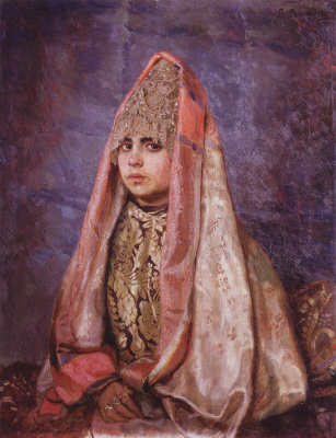 Viktor Mikhailovich Vasnetsov. The Boyar's Daughter (Portrait Of V. S. Mamontova)