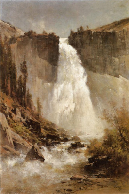 Thomas Hill. Waterfall