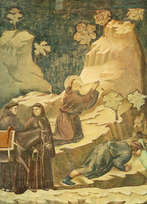 Giotto di Bondone. The miracle of spring. The Legend of Saint Francis