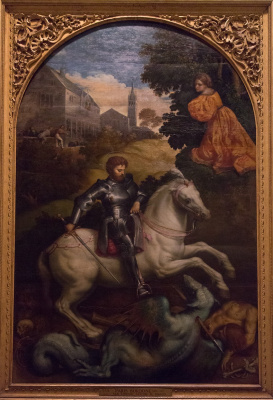 Paris Bordon. St. George slaying the dragon