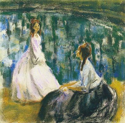 Victor Elpidiforovich Borisov-Musatov. At the reservoir. Sketch