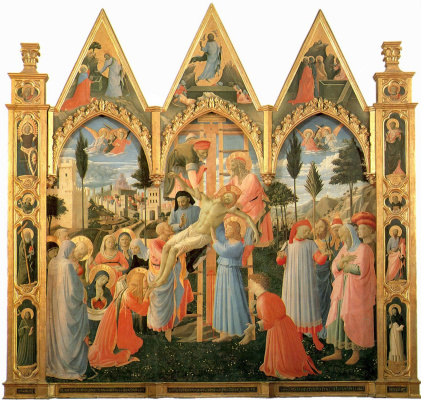 Fra Beato Angelico. Descent from the cross. Altar of the Church of the Holy Trinity, San Marco, Florence