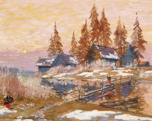 Konstantin Korovin. Late winter