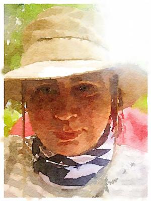 Valery Ilyichev. Lena on a camping trip