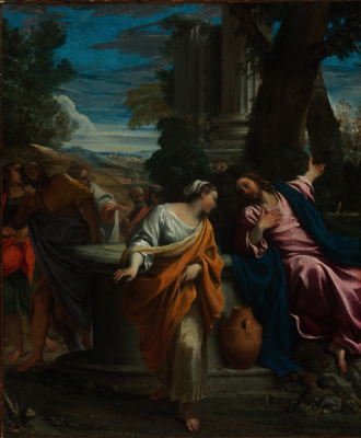 Annibale Carracci. Christ and the Samaritan woman