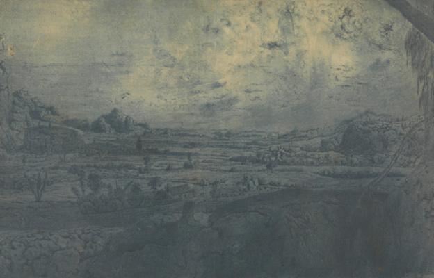 Геркулес Сегерс. Горная долина с огороженными полями