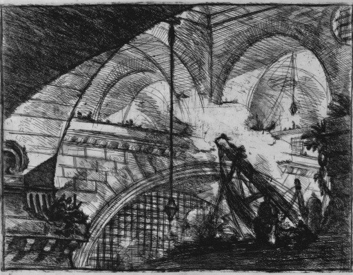 Giovanni Battista Piranesi. A series of Prisons, sheet XI, the first state