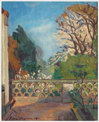 Einar Wegener (Lily Elbe). The view from the terrace