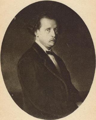 Vasily Grigorievich Perov. Portrait Of Nikolai Rubinstein