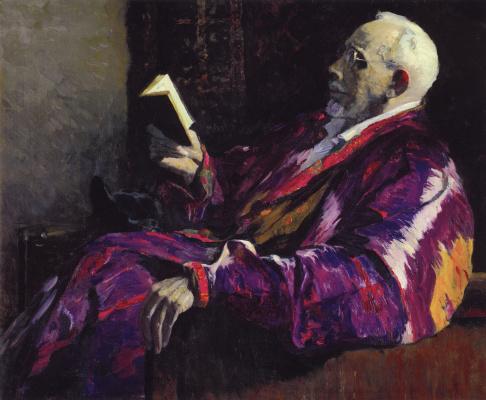 Mikhail Vasilyevich Nesterov. Portrait of academician, biologist A. N. Severtsov