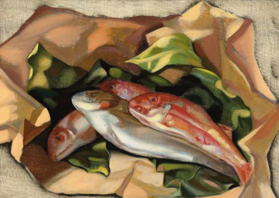 Тамара Лемпицка. Натюрморт с рыбами
