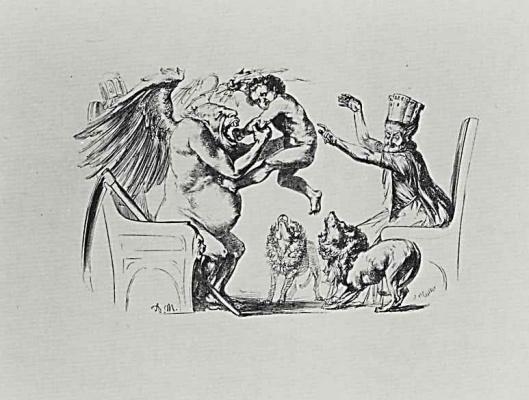 """Adolf Friedrich Erdmann von Menzel. Illustration for """"the Deeds of Frederick the Great"""""""