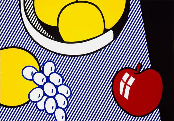 Рой Лихтенштейн. Яблоко, виноград и грейпфрут