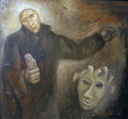 Mark Vladimirovich Makarov. Man with a paper mask