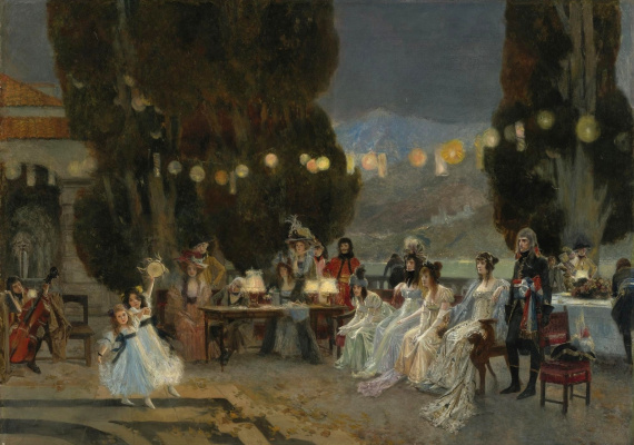 Francois Flameng. Party for Josephine.
