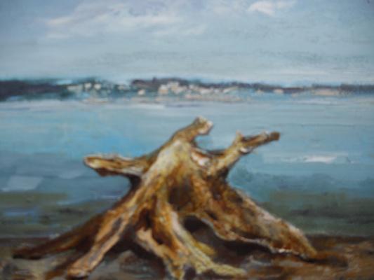 Edward Rudolfovich Votyakov. Wooden octopus Kama shores.
