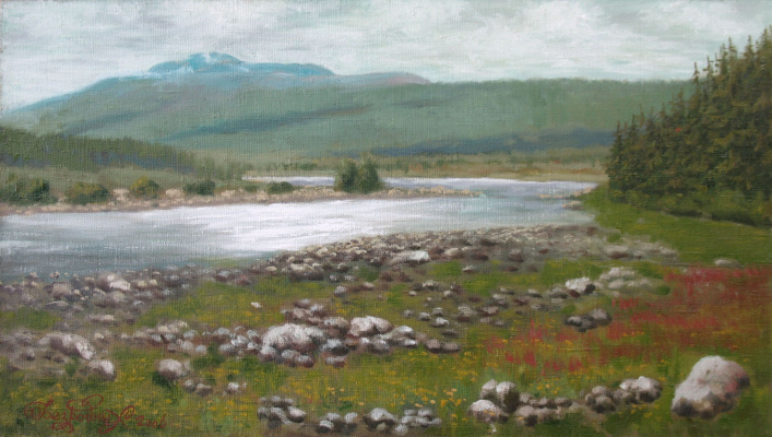 Alexander Nikolaevich Bezrodny. Valley of the mountain river