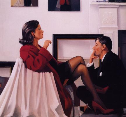 Jack Vettriano. Model in Studio