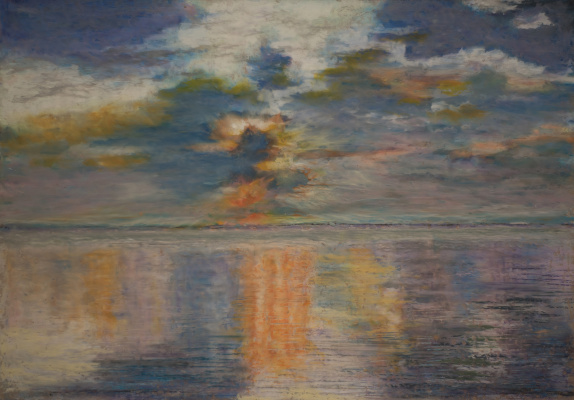 Albert Safiullin. Sunset in the Indian ocean