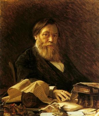 A portrait of the writer of P. I. Melnikov (alias Andrey Pechersky)