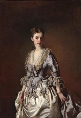 Alexander Dmitrievich Litovchenko. The portrait of a lady in grey